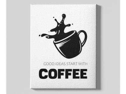 Dekorační obrázek na plátně Coffee ideas Cup
