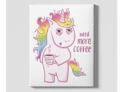 Dekorační obrázek na plátně Unicorn coffee top