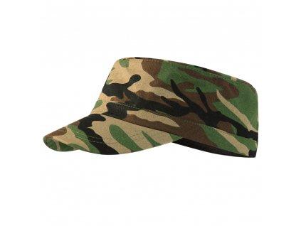 ARMY maskáčová čepice hnědá unisex kamufláž 1