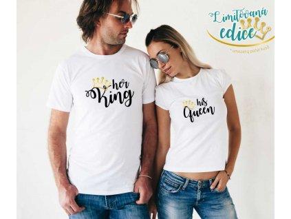 Bílé trička pro Páry King a Queen 04