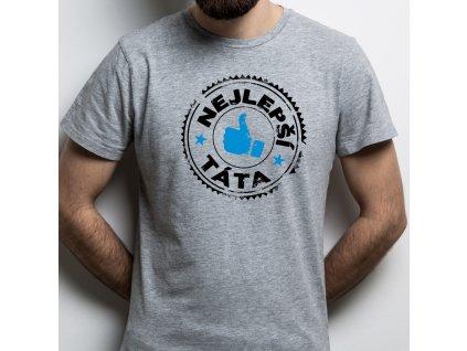 Pánské tričko Nejlepší táta STAMP šedé