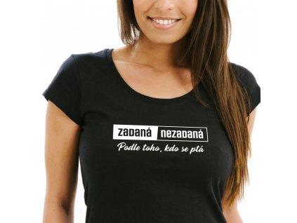 Dámské tričko Zadaná Nezadaná černé 1