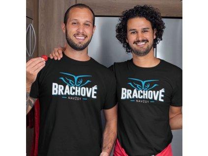 Set triček pro bratry Bráchové navždy černá trička 02b