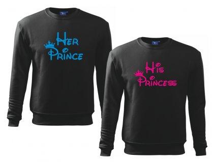 Sada mikin Prince a Princess Černá Barvy