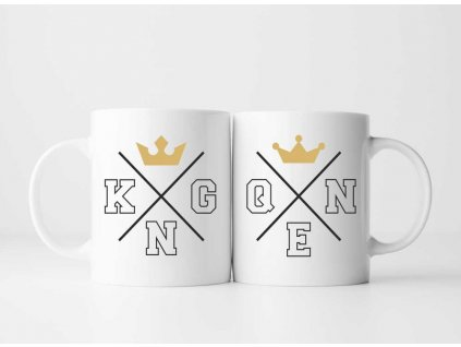 Sada Hrnečků King a Queen Minimalism