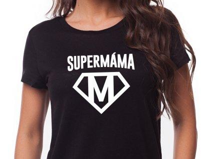 SUPER MÁMA černé bílý