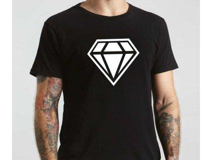 Pánské tričko Diamond Inverse černé