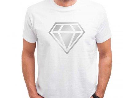 Pánské tričko Diamond Inverse bílé 2
