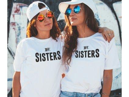Trička pro kamarádky BFF SisterS HIGH černé