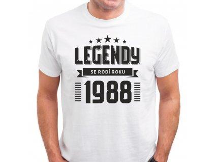 Pánské tričko zrození legendy rok narození bílé