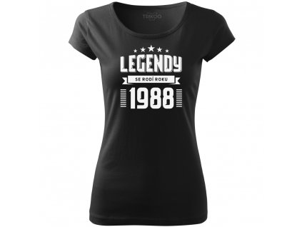 Dámské tričko k narozeninám zrození legendy ročník černé