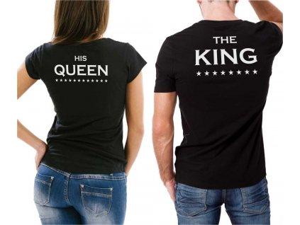 Černé Trička pro Páry King a Queen 01