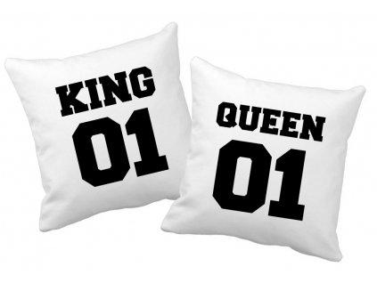 Polštářky pro zamilované páry KING a QUEEN 02