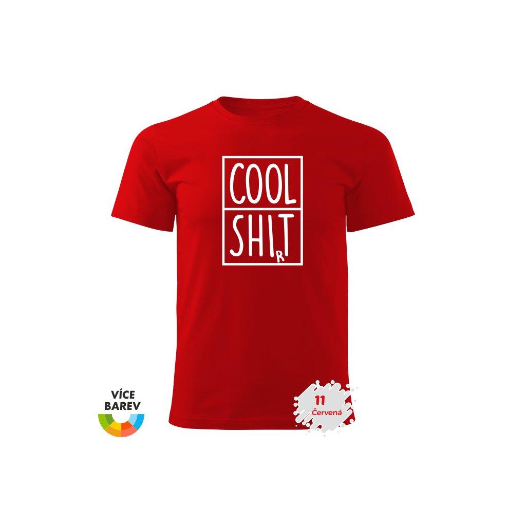 Pánské tričko - Cool Shirt - s potiskem - dárkové - červená