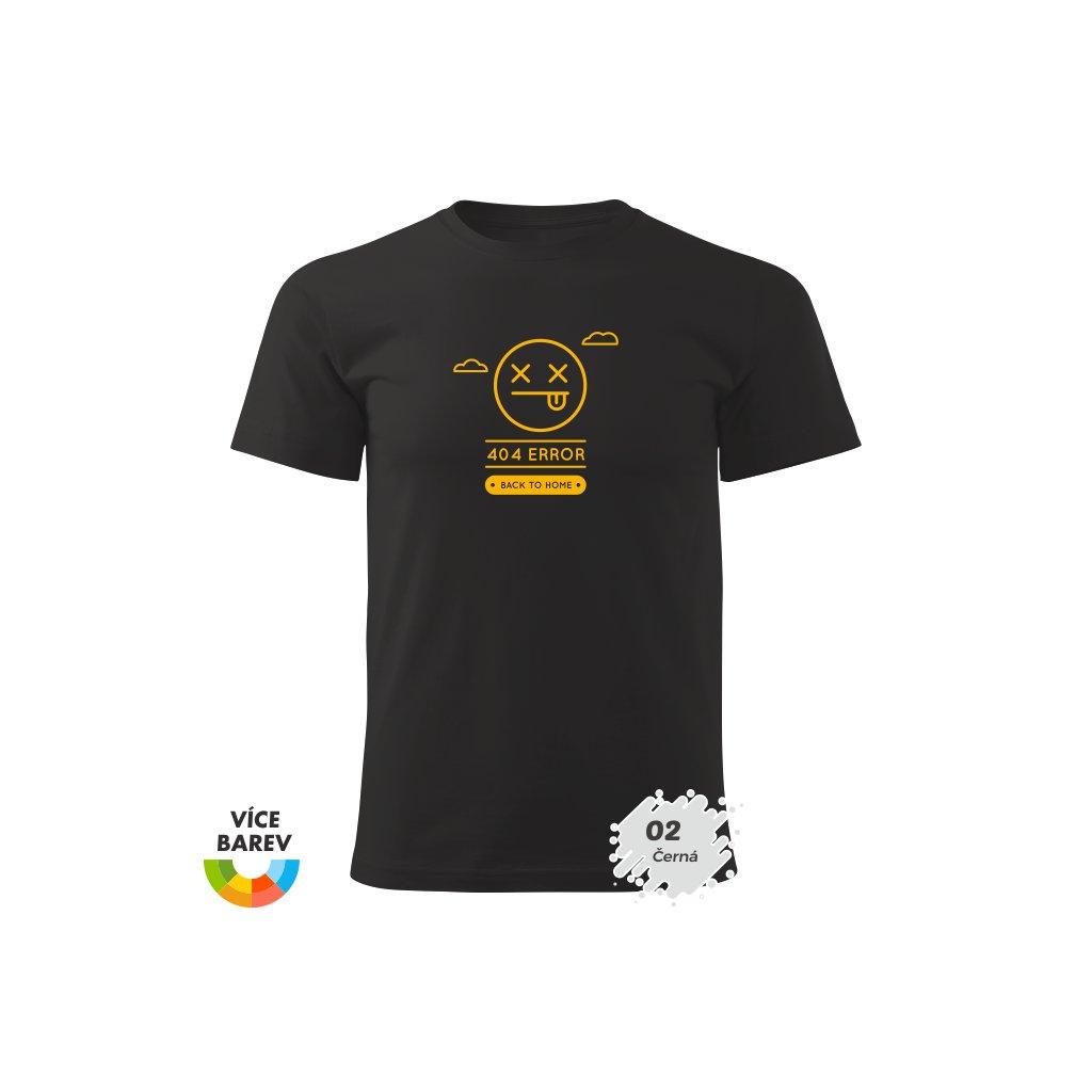 Pánské tričko - 404 Error - s potiskem - dárkové - černá
