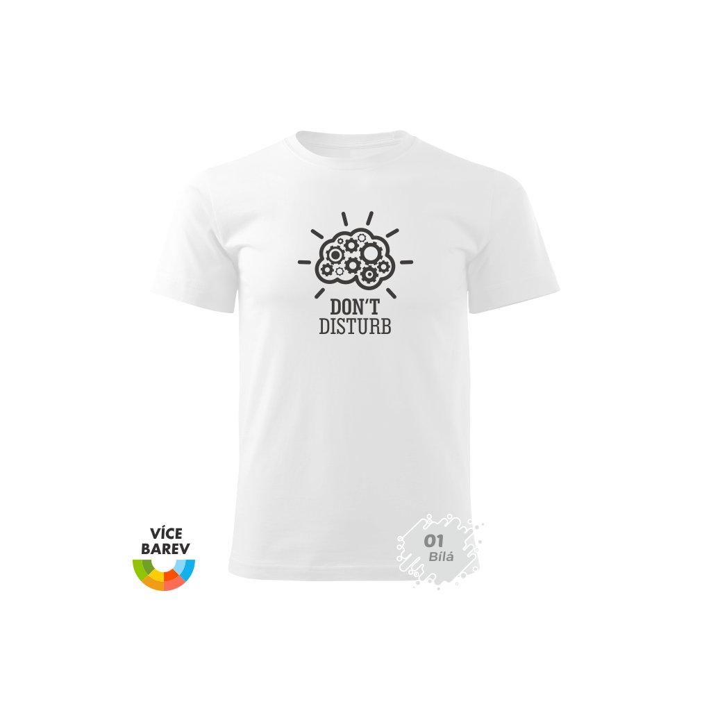 Pánské tričko - chci klid - s potiskem - dárkové - bílá