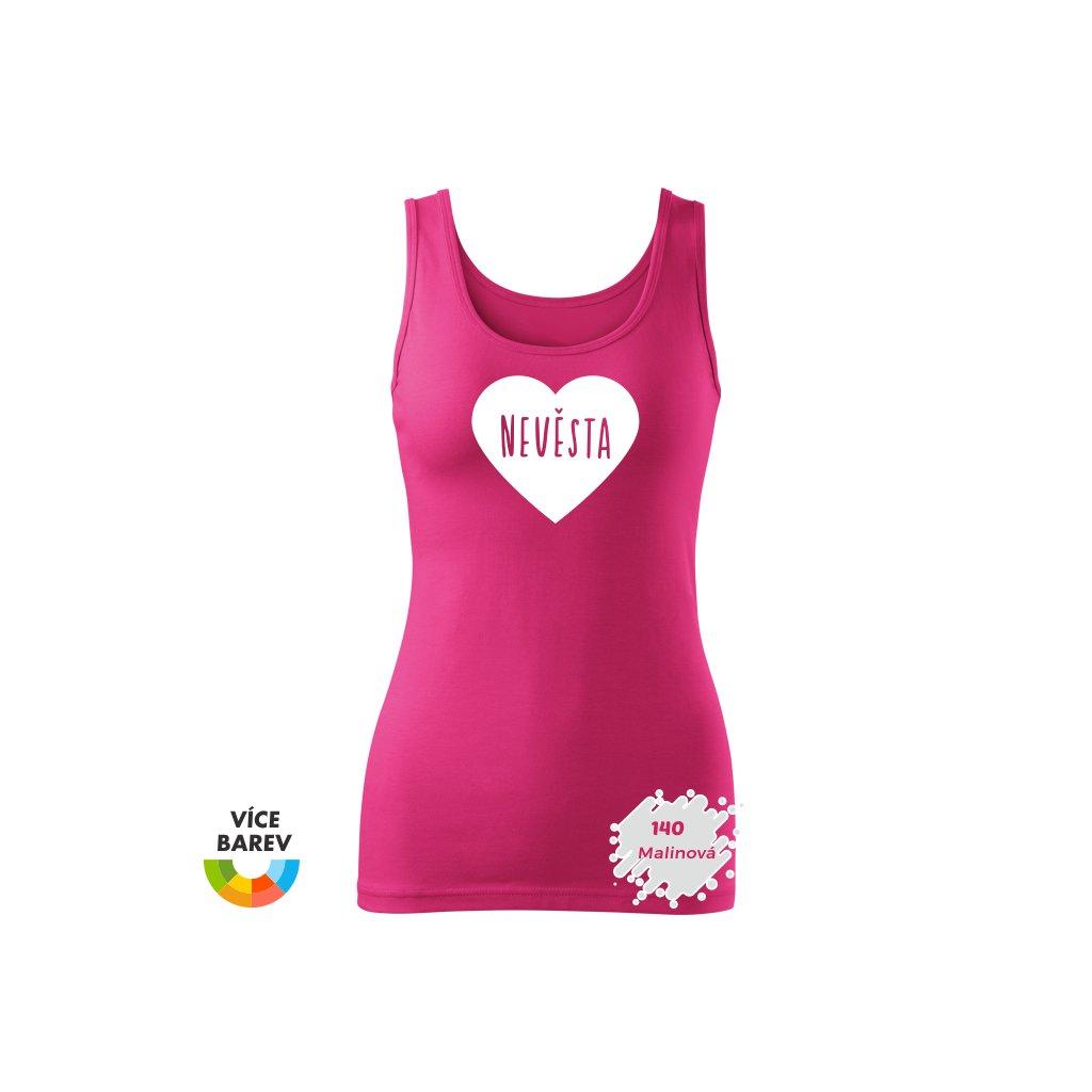 Trikoto - Nevěsta - velké srdce - dámské tílko