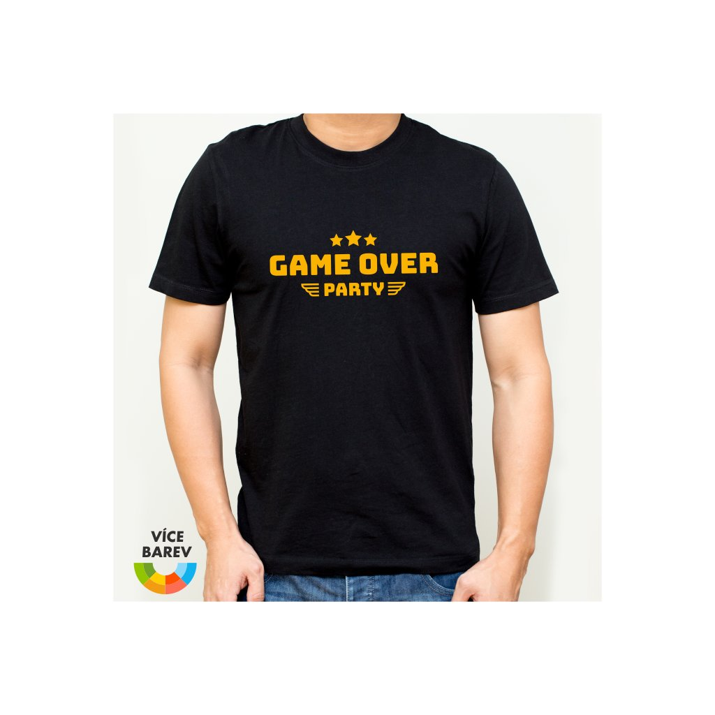 Trikoto - Rozlučka - Game Over Stars - pánské tričko