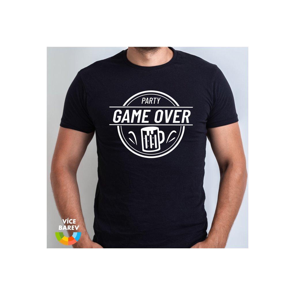 Trikoto - Rozlučka - Game Over party - pánské tričko