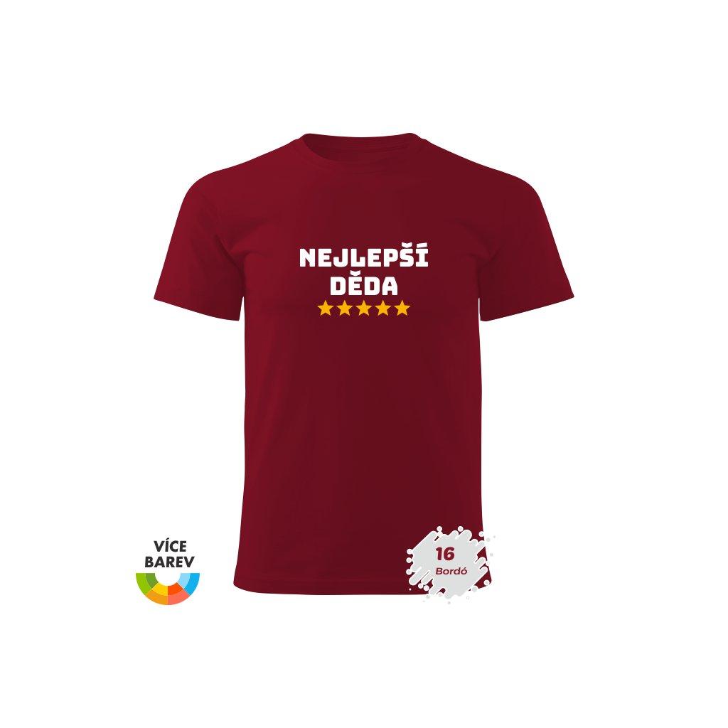Pánské tričko - Nejlepší dědeček - hvězdy