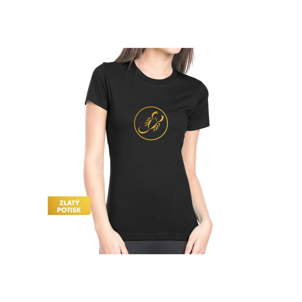 Dámské tričko - Štír - Tradiční horoskop