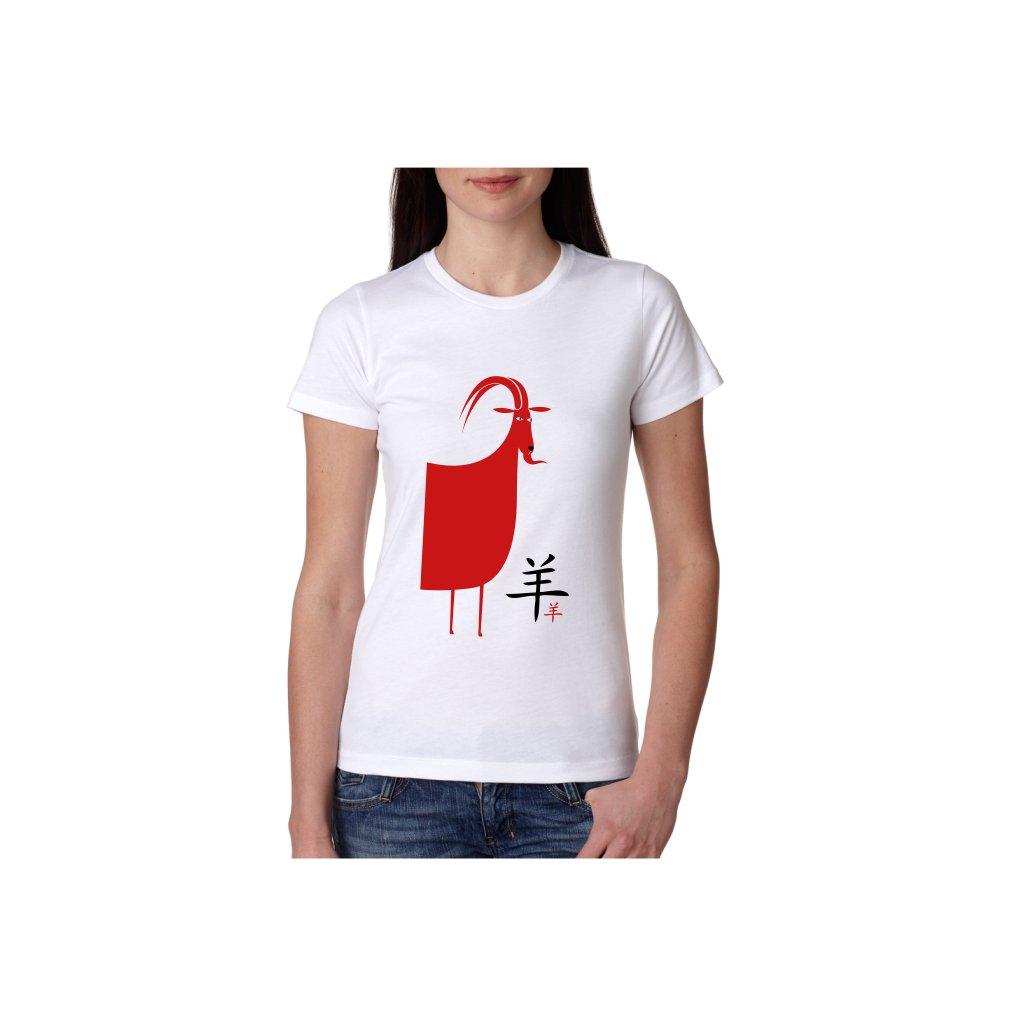 Dámské tričko - Koza - čínský horoskop