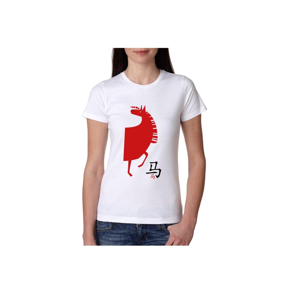 Dámské tričko - Kůň - čínský horoskop