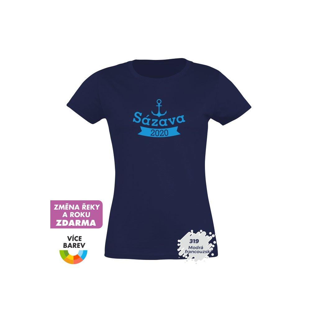 Trikoto - Dámské tričko - Na vodu - Kotva