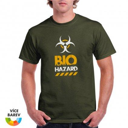 Pánské tričko - Bio Hazard - s potiskem - dárkové - khaki