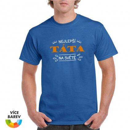 Pánské tričko - Nejlepší táta na světě - s potiskem - dárkové - modrá