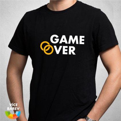 Trikoto - Rozlučka - Game Over - pánské tričko