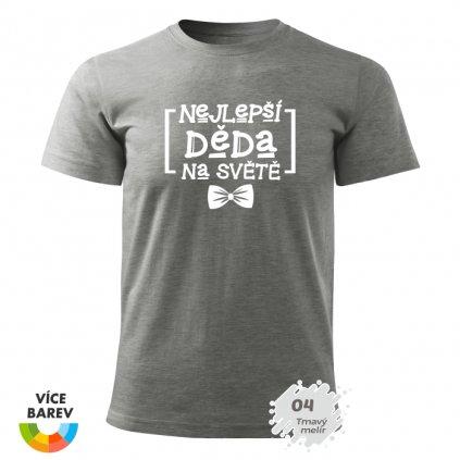 Pánské tričko - Nejlepší dědeček na světě - Motýlek