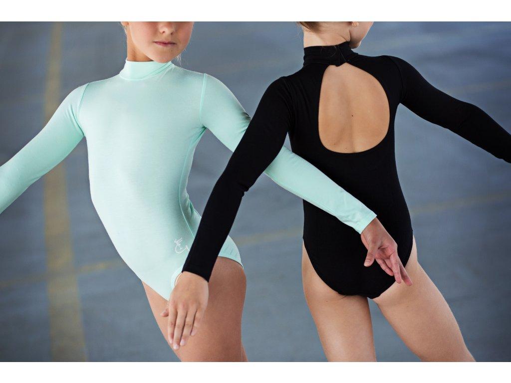 trikot baletni slza dlouhy rukav