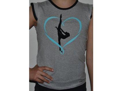 Tričko srdce modre malý formát
