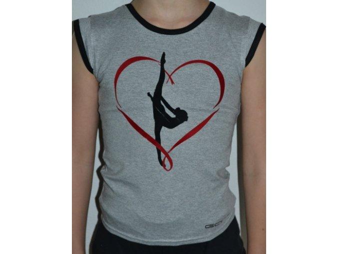 Tričko srdce cervena