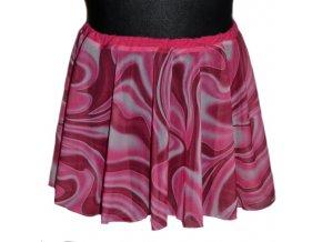 sukně šifon duha