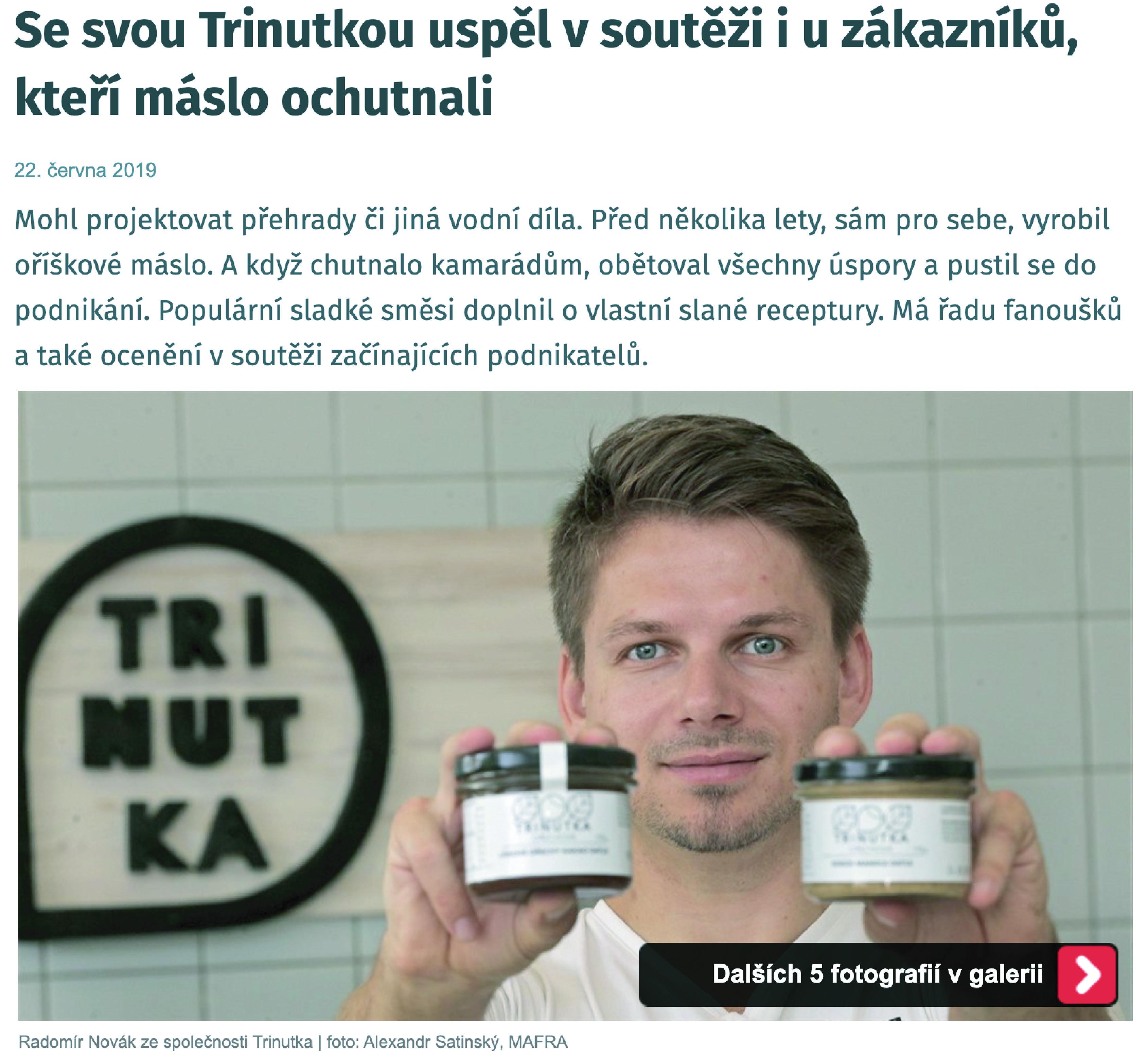 Se svou Trinutkou uspěl v soutěži i u zákazníků, kteří máslo ochutnali