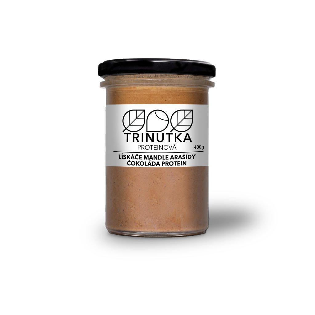 TRINUTKA lískové ořechy mandle arašídy čokoláda protein 400g