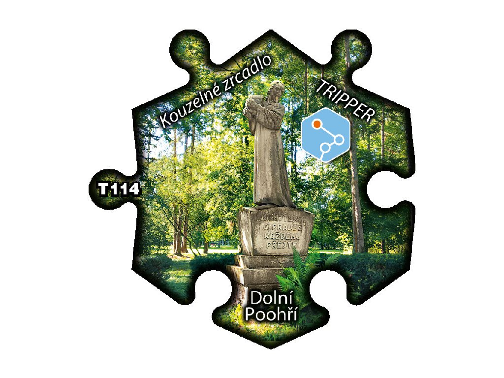 puzzle Tripper Dolni Poohri kouzelne zrcadlo T114