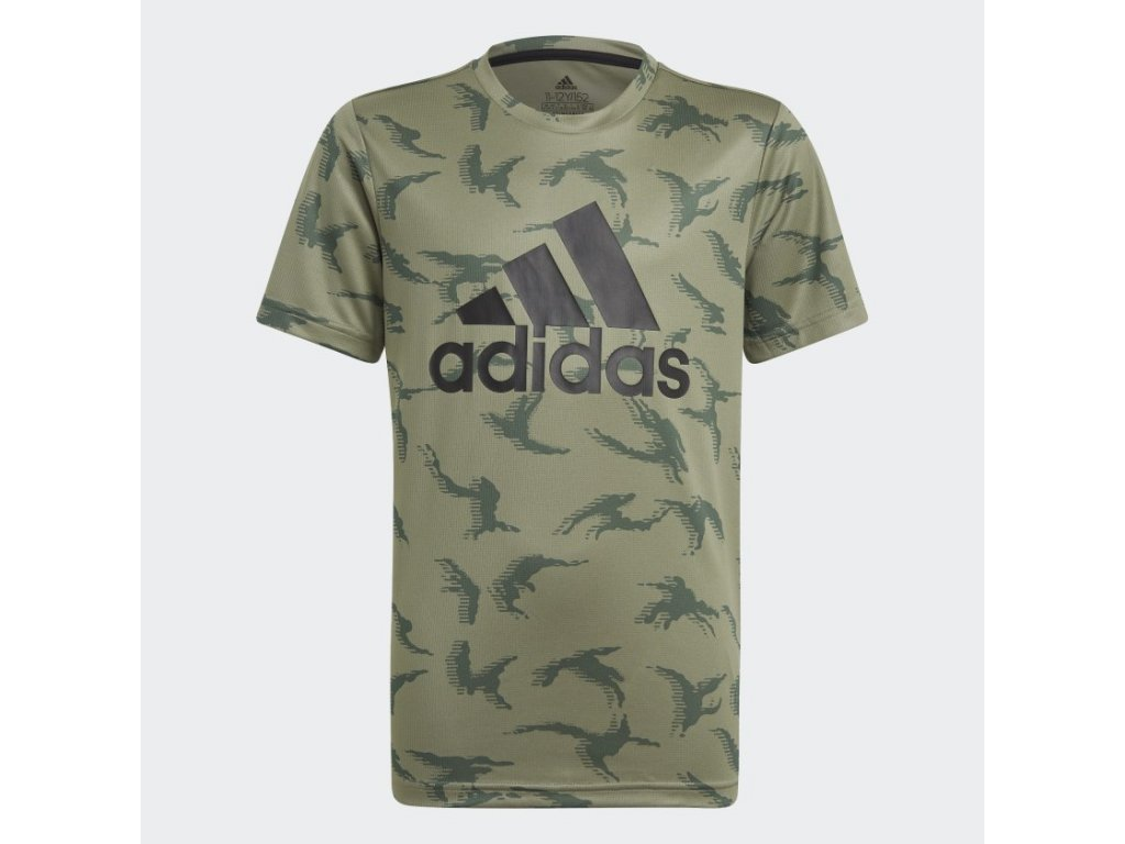 Tricko adidas Designed To Move Camouflage zelena GN1488 01 laydown