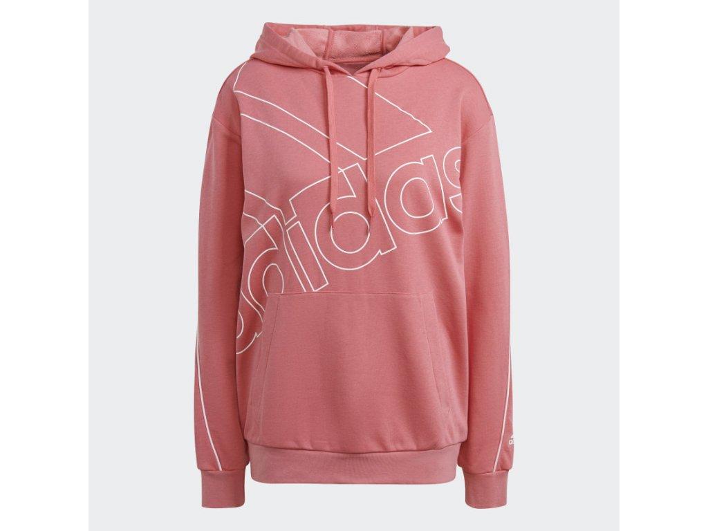 adidas Giant Logo Hoodie (Gender Neutral) Pink GM5621 01 laydown