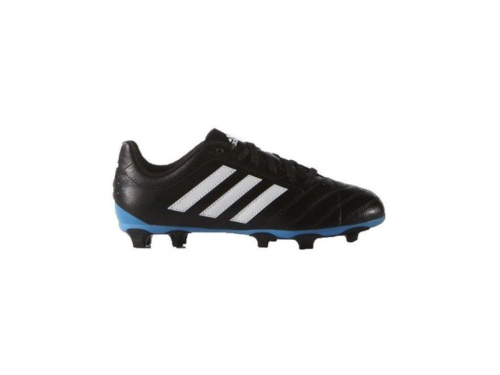 scarpe calcio bambino goletto v fg nero azzurro