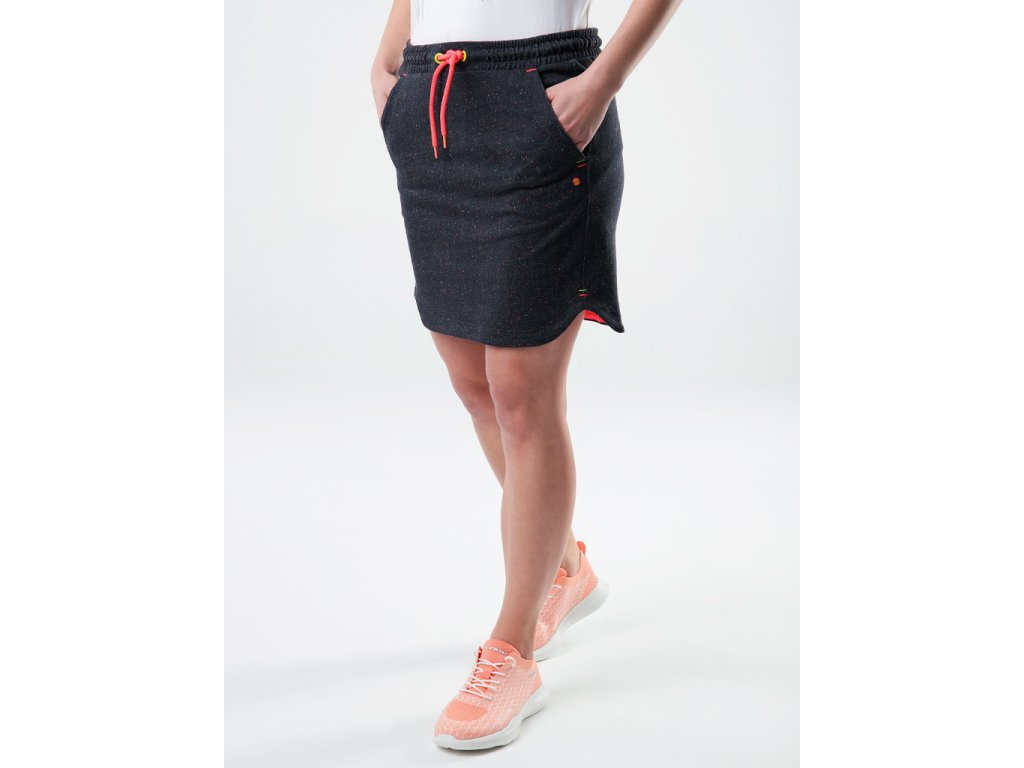 29620 loap edel damska sportovni sukne seda oranzova clw2118u07e