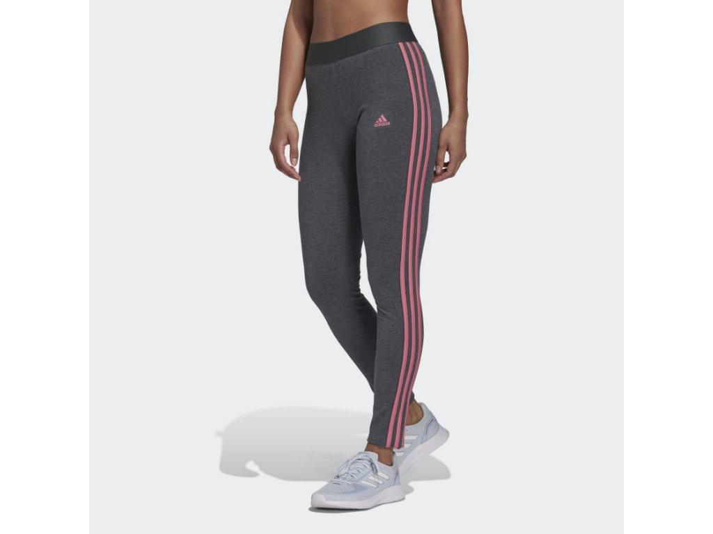 LOUNGEWEAR Essentials 3 Stripes Leggings Grey H07769 21 model