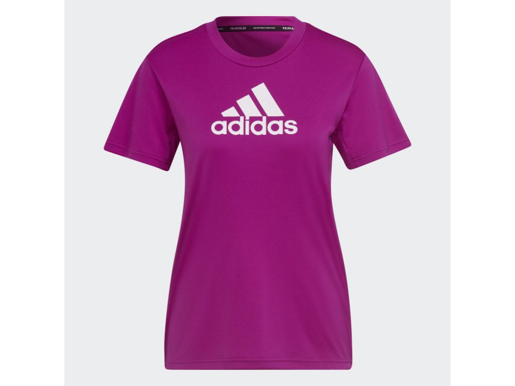 Primeblue Designed 2 Move Logo Sport Tee Pink H16840 01 laydown