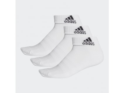 Cushioned Ankle Socks 3 Pairs White DZ9365 03 standard