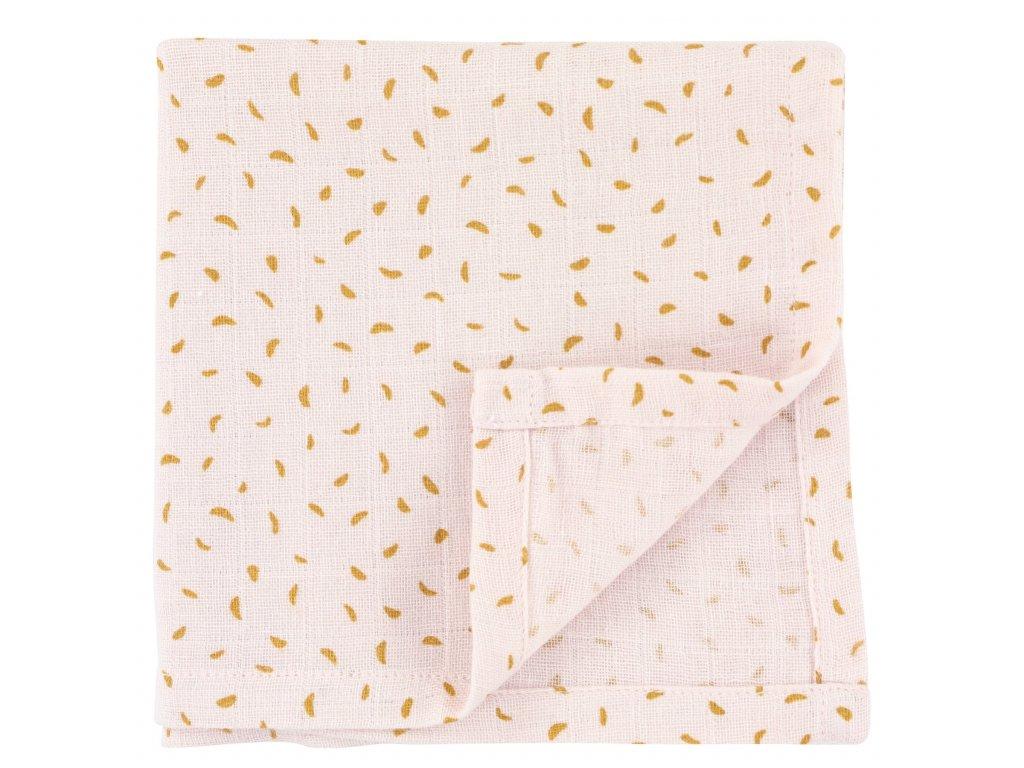 1629 1 bavlnena plenka muslin cloths moonstone 110 cm set 2 ks