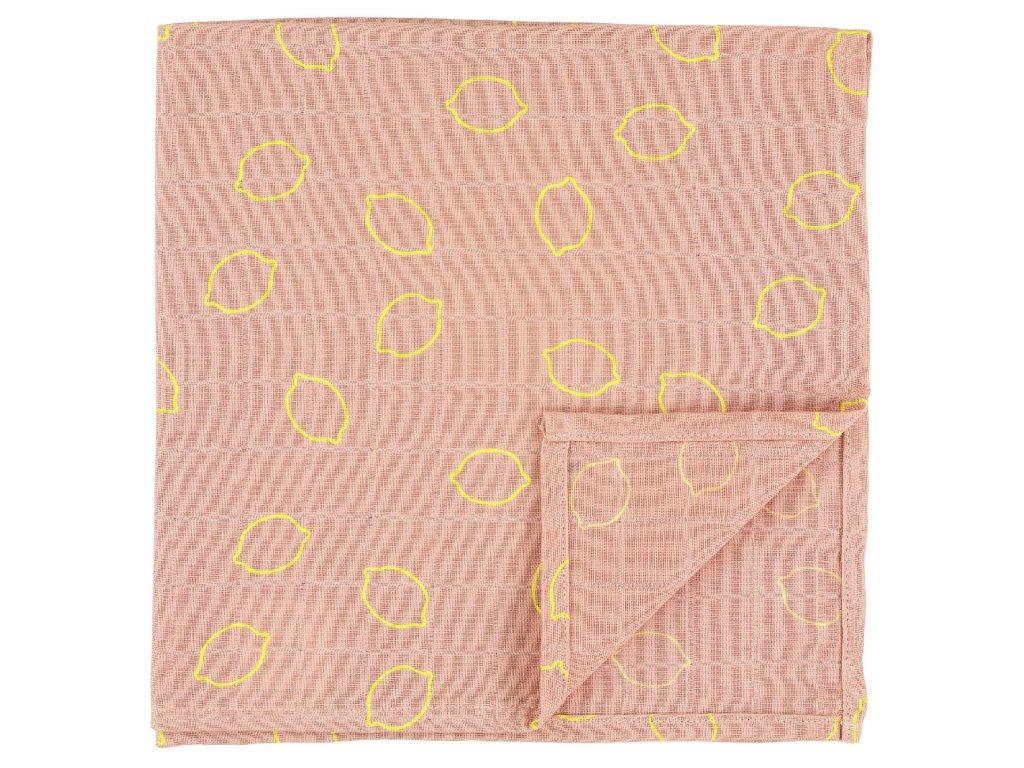 1632 bavlnena plenka muslin cloths lemon squash 55 cm set 3 ks