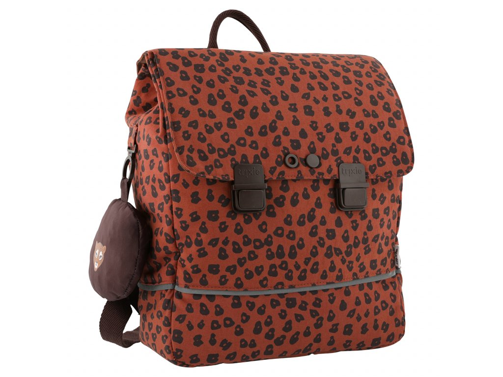 3702 3 skolni batoh trixie leopard
