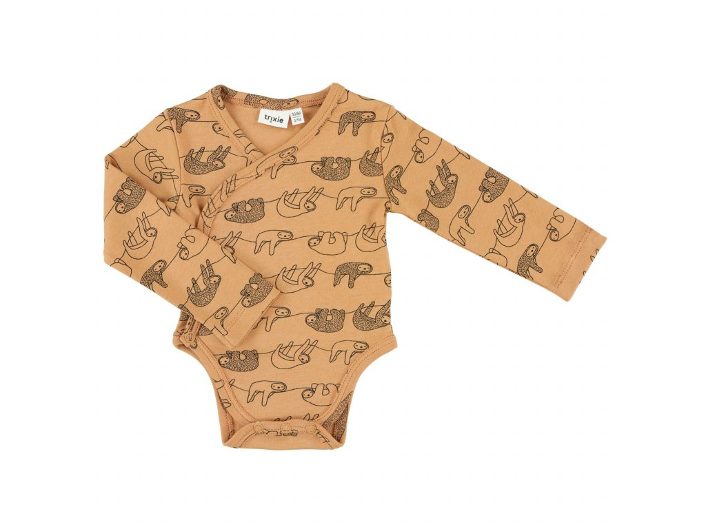 Cross-over body long | 62/68 - 3/6m - Silly Sloth